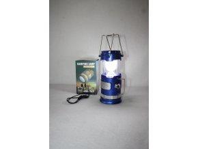 Svítilna, baterka kempingová lampa dobíjecí SWAT - modrá