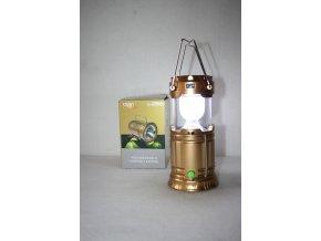 Svítilna, baterka kempingová lampa dobíjecí SWAT - zlatá