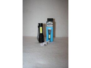 Svítilna, baterka CREE LED/ZOOM/COB, dobíjecí USB HT-4411