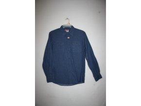 Košile pánská WRANGLER dlouhý rukáv DENIM - modrá