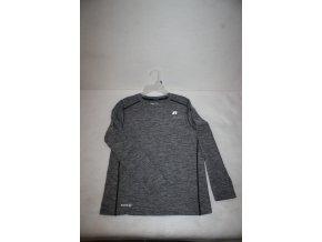 Dětské funkční triko s dlouhým rukávem Russell - šedé