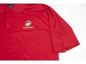 Tričko, triko polo Reebok Marines - červené