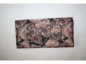 Multifunkční šátek - lebky brown