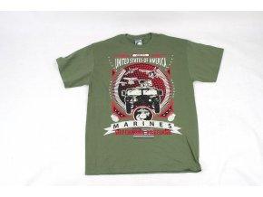 Tričko, triko Gildan USA zelené