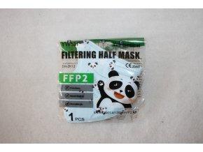 Respirátor FFP2 dětský - modrá panda