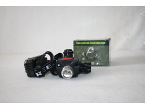 Čelovka, svítilna LED HEADLIGHT 3W CREE, 160 lumens, multifunkční