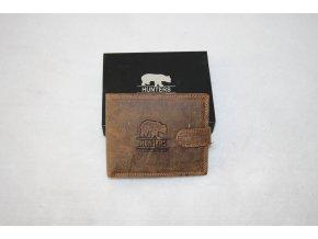 Peněženka kožená Hunters Premium 333LB - medvěd