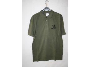 Triko, tričko Knebl s krátkým rukávem, potisk divočák - khaki