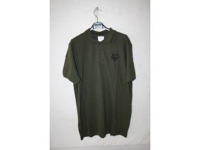 Triko, tričko Knebl s krátkým rukávem, potisk muflon - khaki
