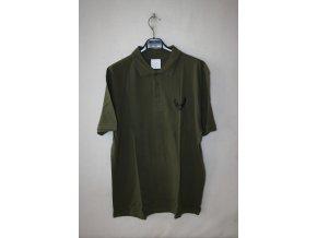 Triko, tričko Knebl s krátkým rukávem, potisk jelen - khaki