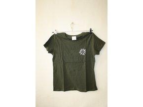 Triko, tričko dámské Knebl slunečnice - zelené