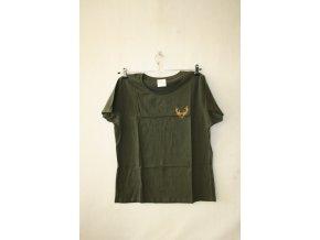 Triko, tričko dámské Knebl jelen - zelené