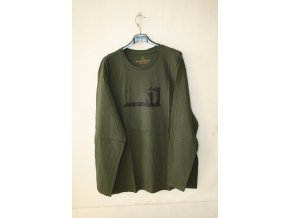 Triko, tričko Knebl s dlouhým rukávem, LES - zelené