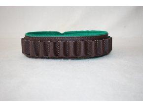 Nábojový pás brokový kožený - uzavřený Zubíček -