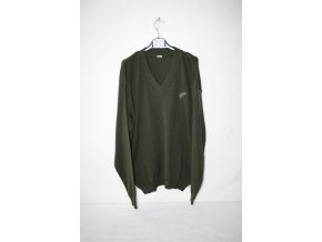 Myslivecký, lovecký pletený svetr s výšivkou jelena