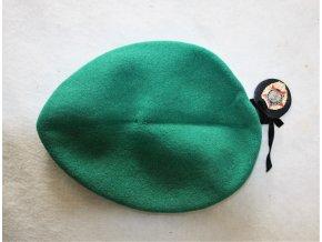 Baret AČR 1999 s odznaky - zelený