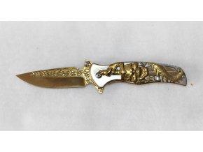 Kapesní nůž s klipem - s lebkou
