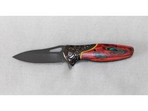 Kapesní zavírací nůž s klipem - zdobený