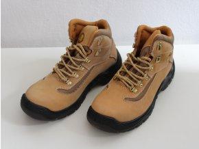 Pracovní obuv, boty kotníkové - kožené