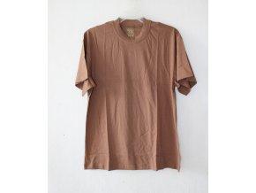 Triko, tričko hnědé, krátký rukáv - letní AČR