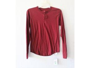 Tričko pánské s dlouhým rukávem Hanes - červené