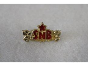 Odznak SNB nárameníkový - zlatá