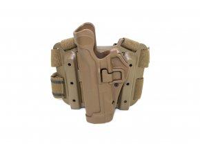 Pistolové stehenní pouzdro pro leváky Beretta 92 TACTICAL SERPA HOLSTER -coyote brown