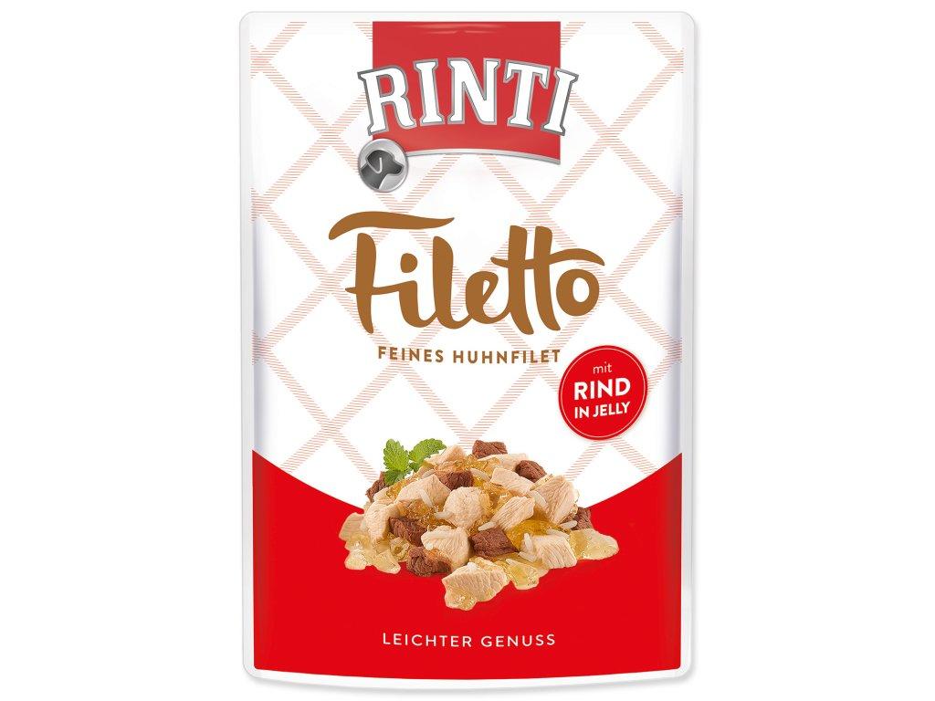 Kapsička RINTI Filetto kuře + hovězí v želé 100g