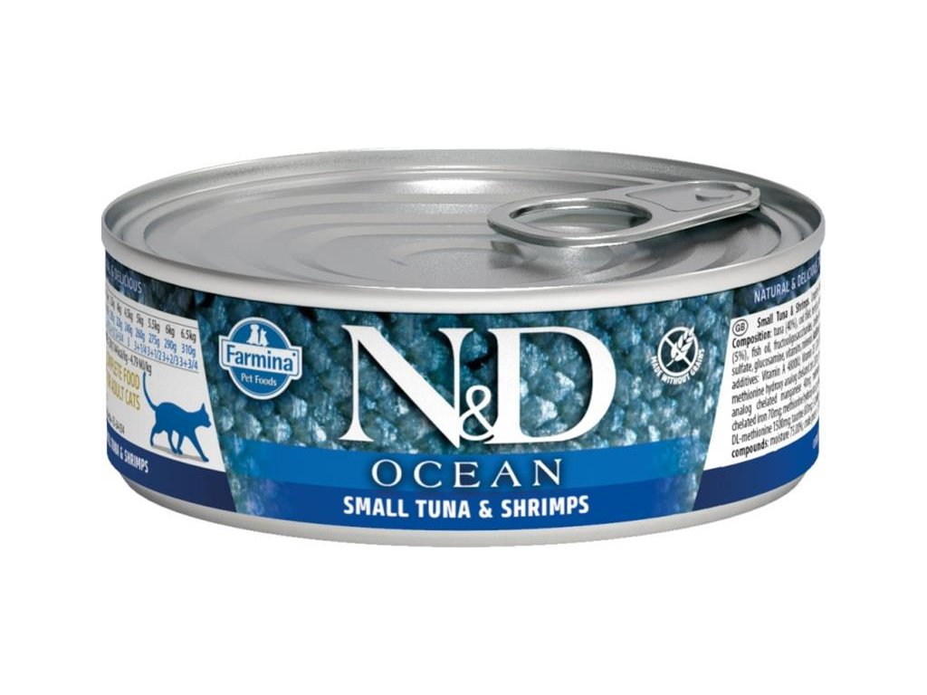 nd ocean small tunashrimps 80g