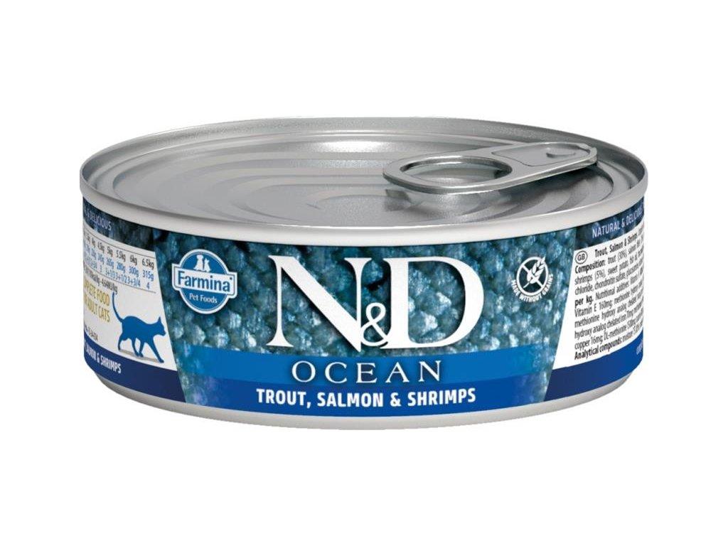 nd ocean trout salmon shrimps 80g