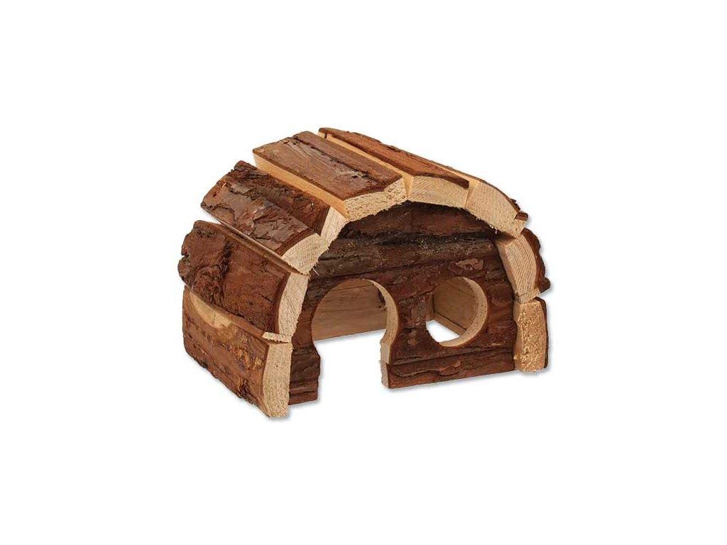 Domek SMALL ANIMAL Hobit dřevěný 15 x 10 x 9 cm