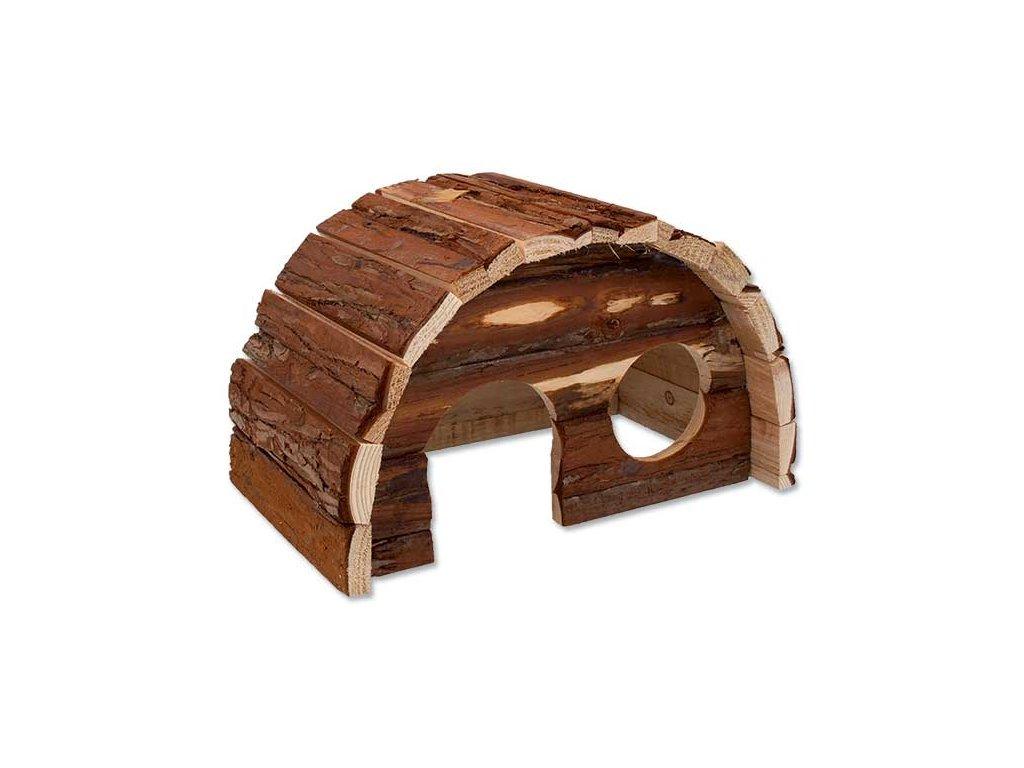 Domek SMALL ANIMAL Hobit dřevěný 25 x 16 x 15 cm