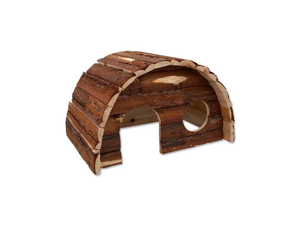Domek SMALL ANIMAL Hobit dřevěný 36,5 x 22 x 20 cm