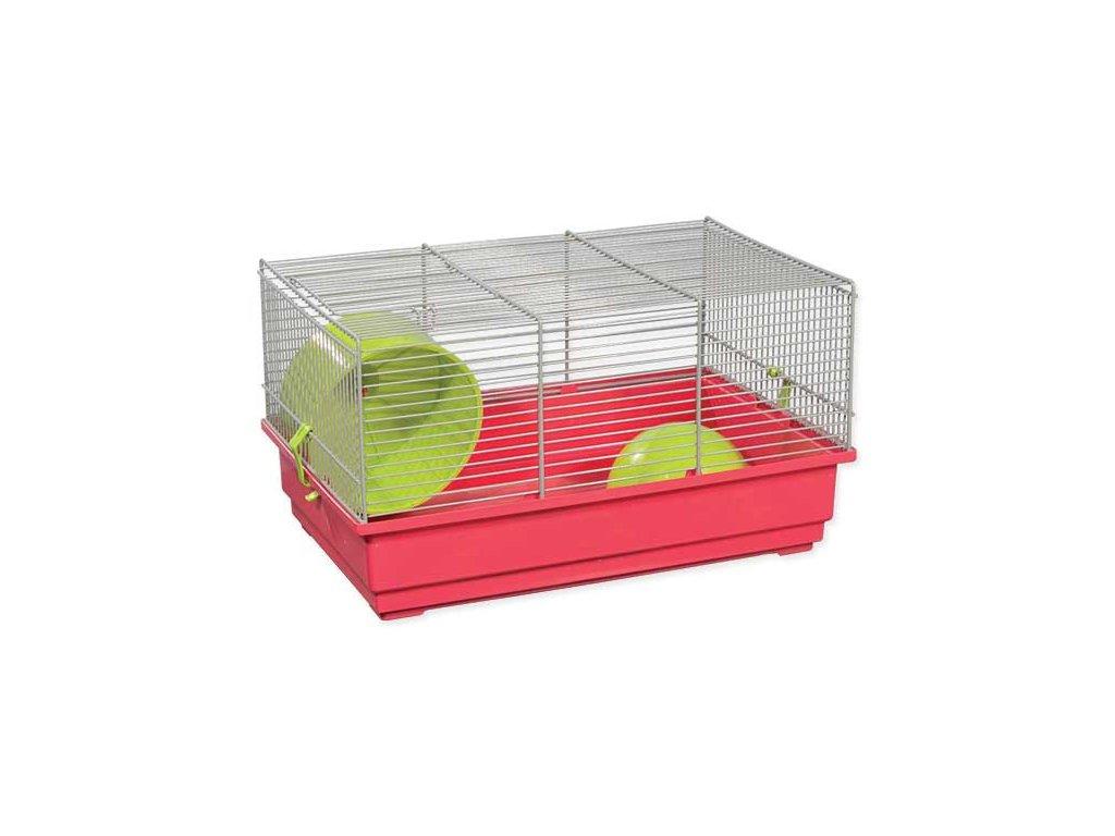 Klec SMALL ANIMAL Richard šedo-červená se zelenou výbavou