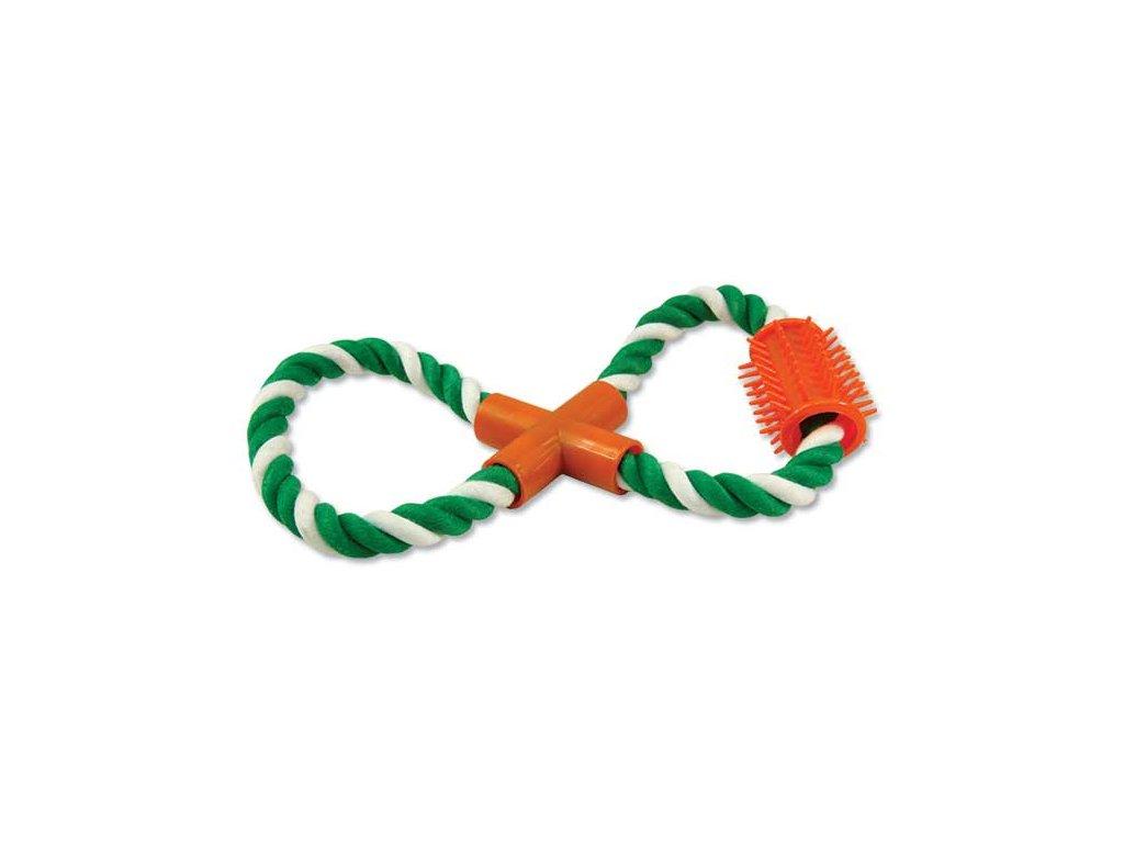 Přetahovadlo DOG FANTASY osmička zeleno-bílé