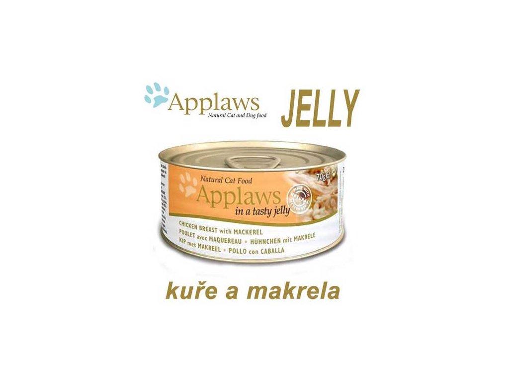 Applaws konzerva Cat Jelly kuře a makrela 70 g