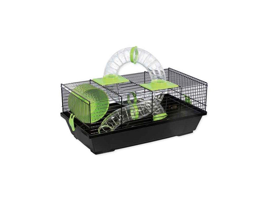 Klec SMALL ANIMAL Libor černá se zelenou výbavou 50 cm