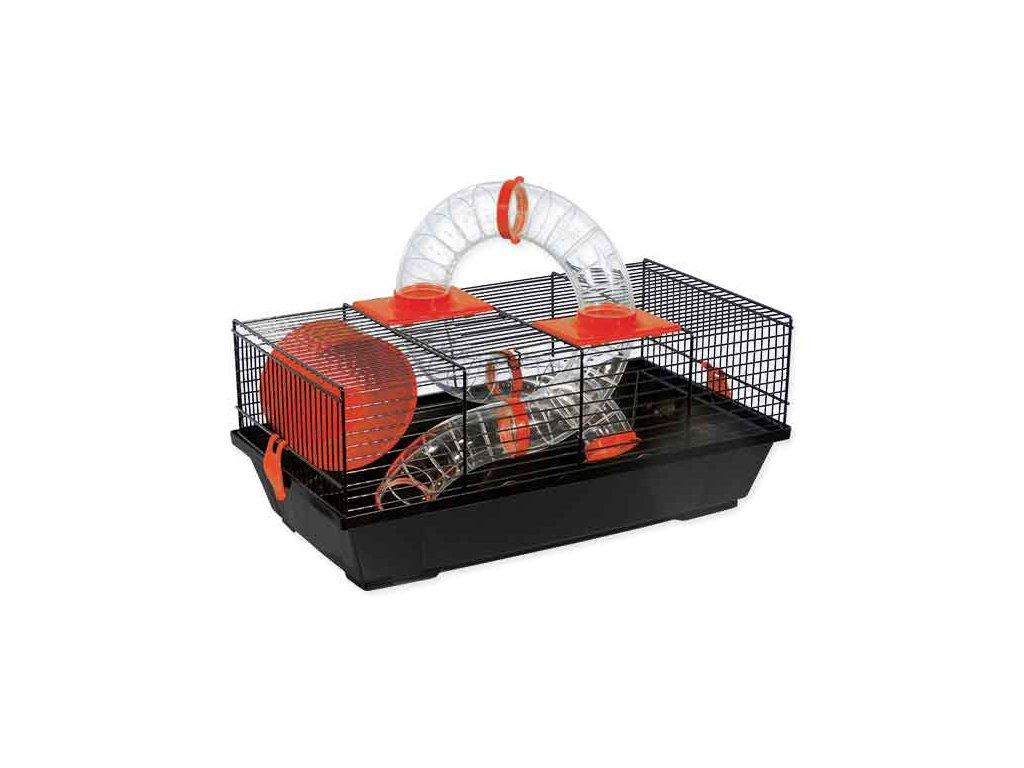 Klec SMALL ANIMAL Libor černá s červenou výbavou 50 cm