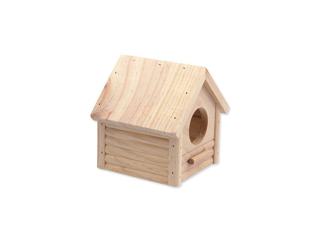 Domek SMALL ANIMAL Budka dřevěný 12 x 12 x 13.5 cm