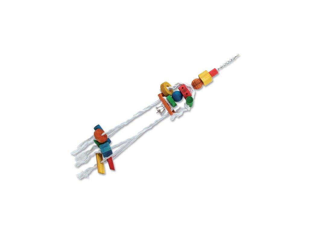 Hračka BIRD JEWEL Medůza závěsná dřevo - provaz 70 cm