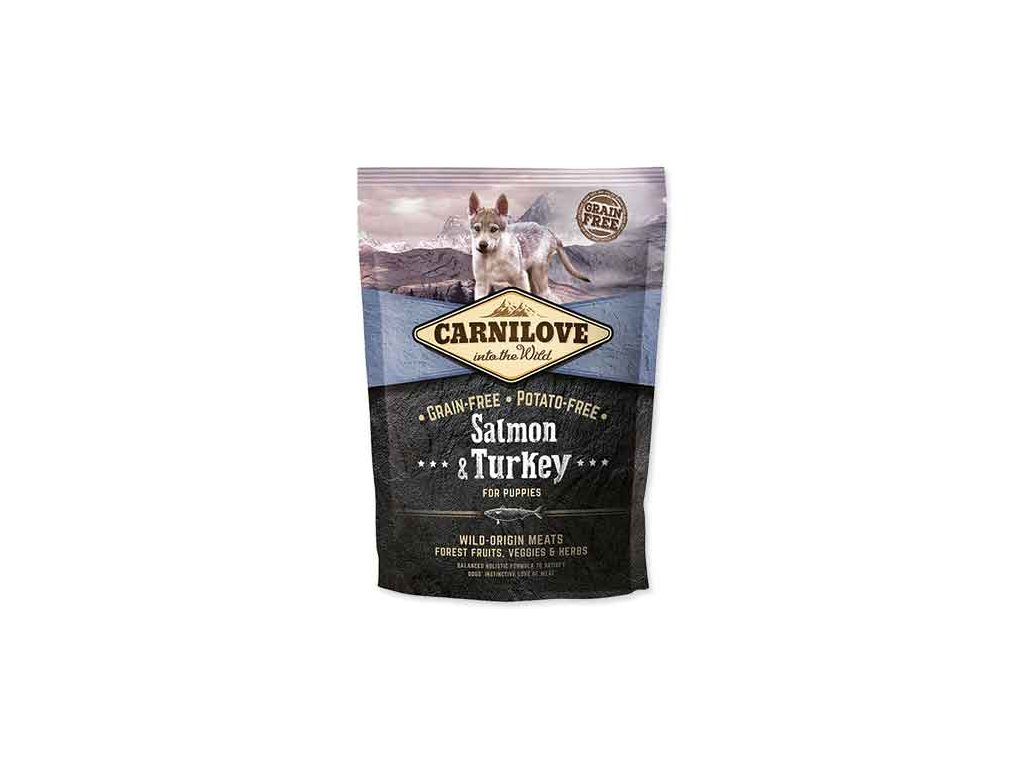 CARNILOVE Salmon & Turkey for Puppies 1,5 kg