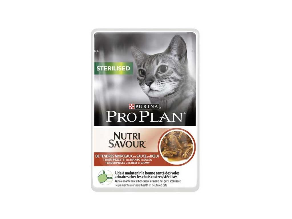 Pro Plan Cat kapsička Sterilised Beef 85 g