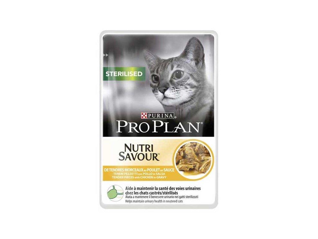 Pro Plan Cat kapsička Sterilised Chicken 85 g