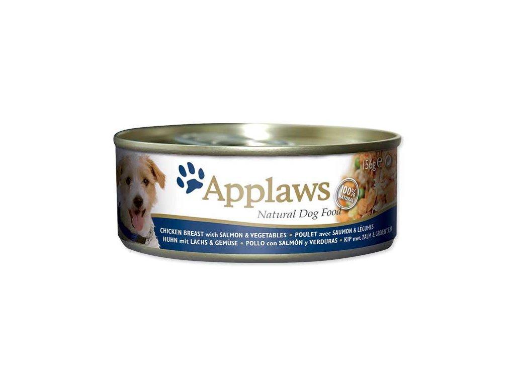 Applaws konzerva Dog 156g kuře, losos a zelenina