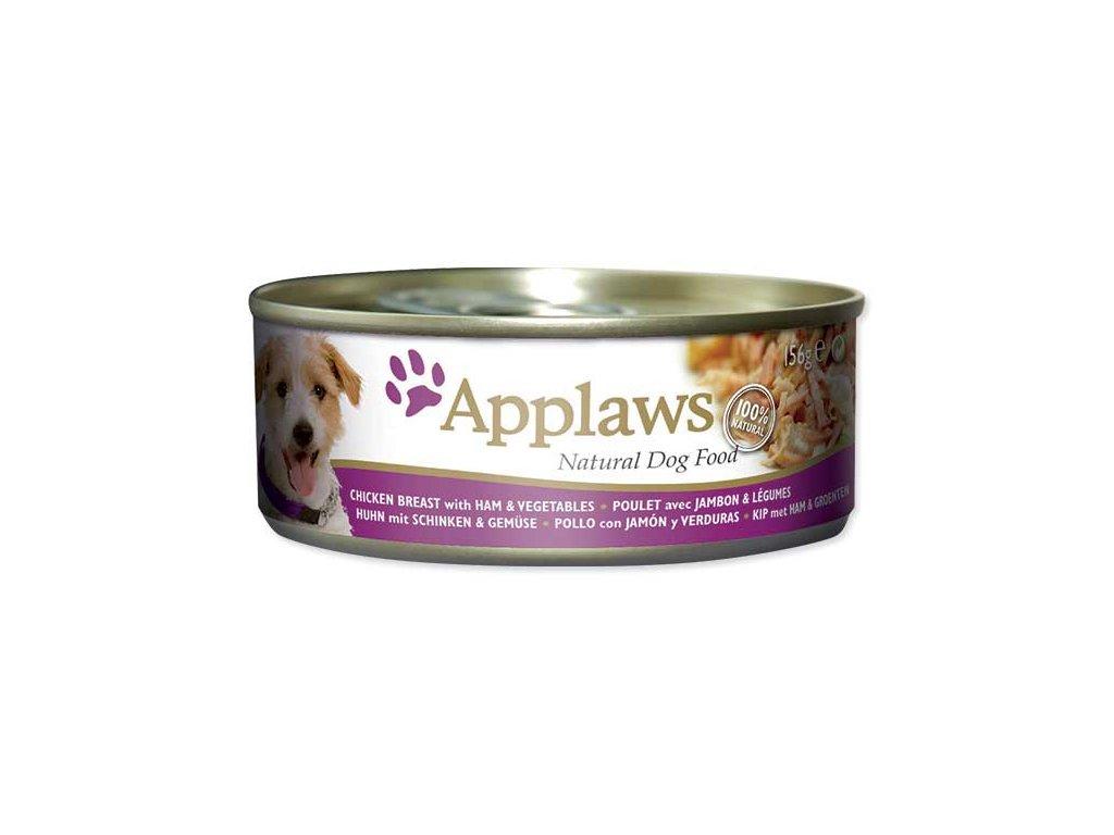 Applaws konzerva Dog 156g kuře šunka zelenina