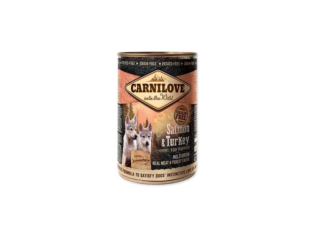 CARNILOVE Wild Meat Salmon & Turkey for Puppies 400g