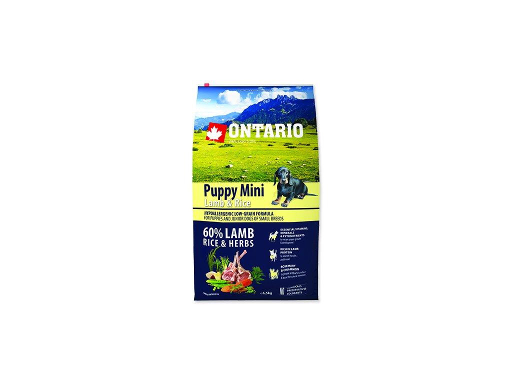 ONTARIO Puppy Mini Lamb & Rice 6,5 kg