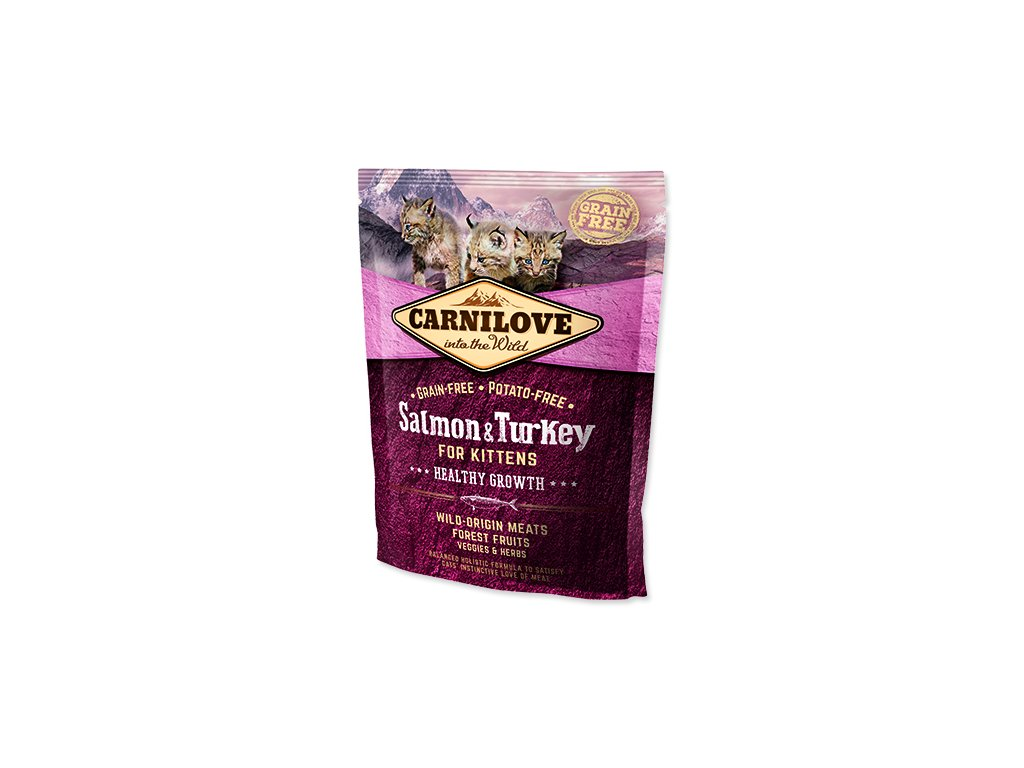 CARNILOVE Salmon and Turkey kittens Healthy Growth 400 g