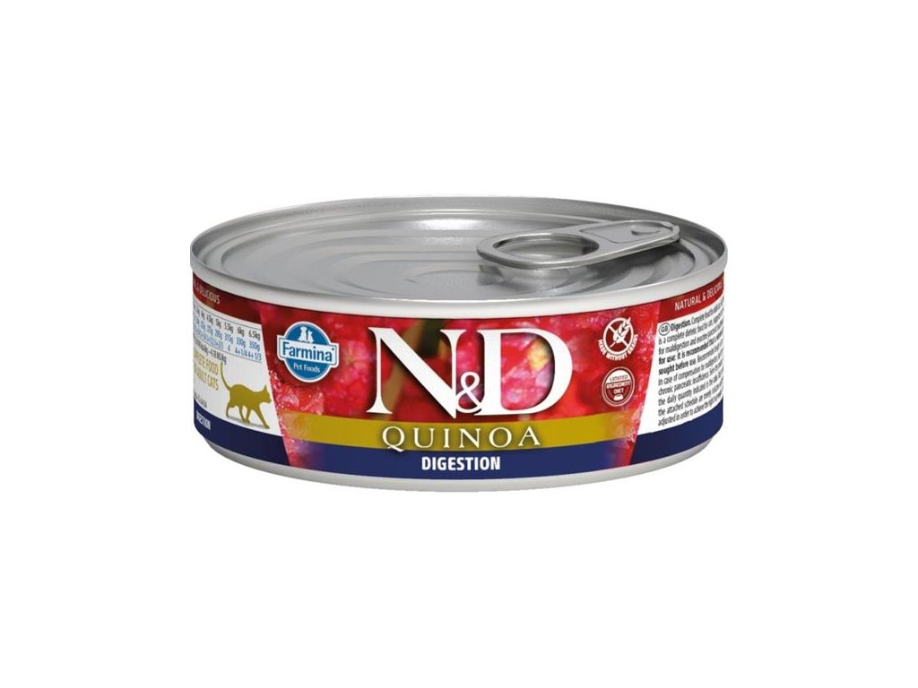 nd cat konzerva quinoa digestion lamb 80g