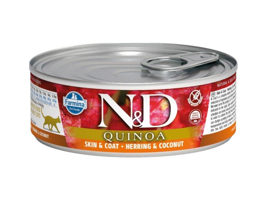 nd cat konzerva quinoa herring coconut 80g